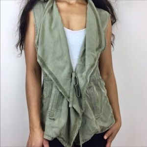 Max Jeans Army Green Vest